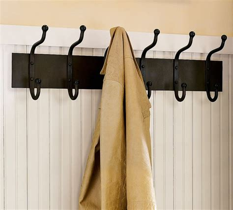 cast iron row of hooks traditional wall hooks by