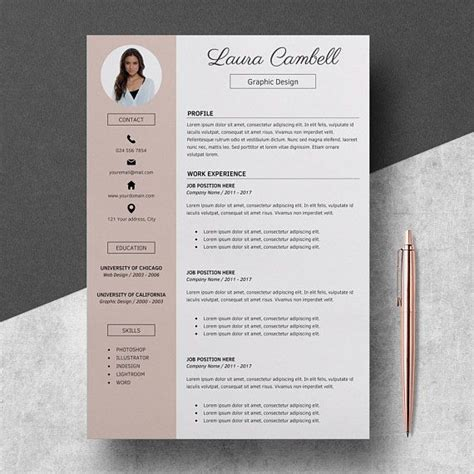Buy Cv Template by Resume Template Cv Template For Ms Word Cover Letter