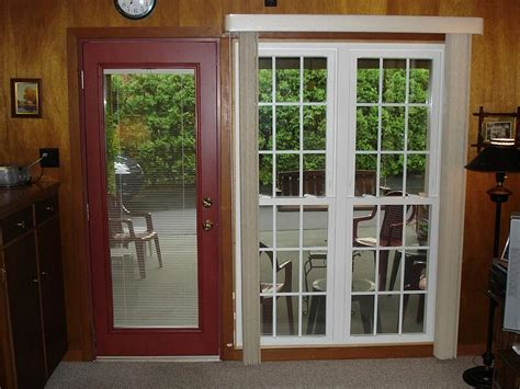 Integrated blinds are sealed inside this gap. Steel Entry Doors with Blinds Between The Glass Panes