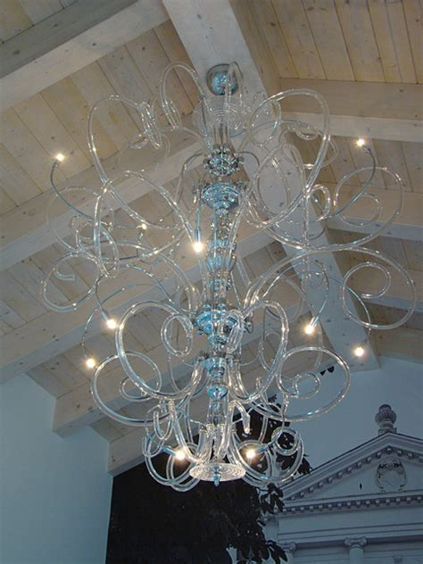 large contemporary modern murano chandelier contemporary