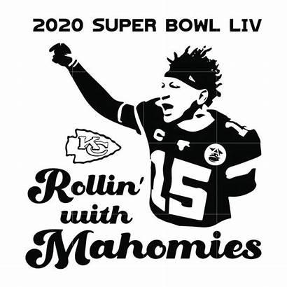 Mahomes Svg Chiefs Bowl Super Rollin Mahomies