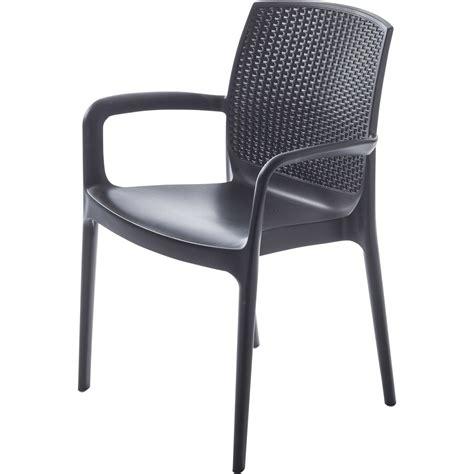 fauteuil de jardin en r 233 sine tress 233 e boh 234 me anthracite