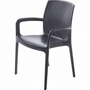 Fauteuil En Resine : fauteuil de jardin en r sine tress e boh me anthracite leroy merlin ~ Teatrodelosmanantiales.com Idées de Décoration