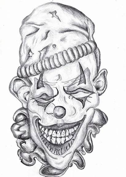 Clown Scary Evil Drawings Tattoo Jester Tattoos