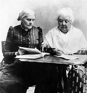 Susan B. Anthony (L), Elizabeth Cady Stanton (R), 1899 ...
