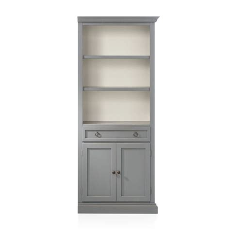 cameo grey  storage bookcase reviews crate  barrel