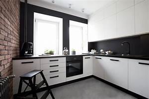 cuisine moderne avec mur de briques With décoration de cuisine moderne