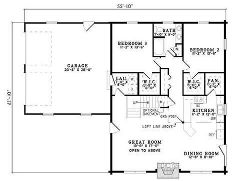 Plan 110-00934 3 Bedroom 2 Bath Log Home Plan