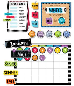 Bulletin Board Calendar Template by Creative Teaching Press Bold Bright Calendar Set