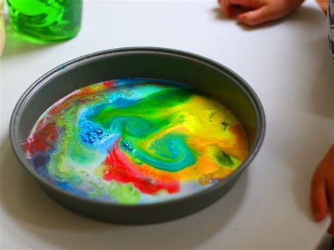 easy science experiment   kids diy rainbow milk art