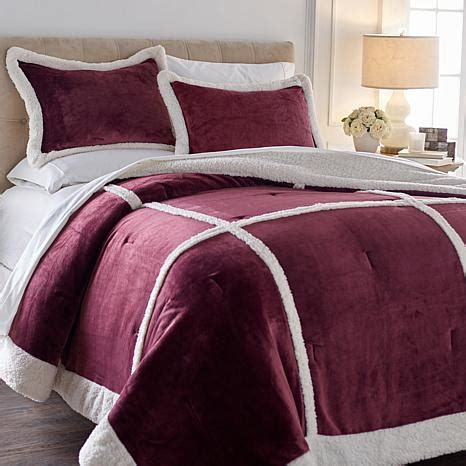 cozy soft comforter soft cozy patchwork plush sherpa comforter set 8430871