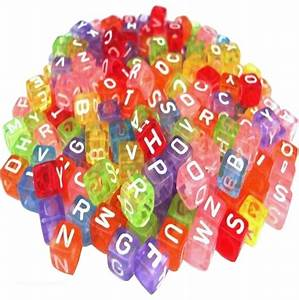 single letter alphabet beads white cube children39s beads With individual letter beads bulk