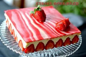 Deco Pate D Amande : fraisier et son d cor marbr en p te d 39 amande par domie ~ Melissatoandfro.com Idées de Décoration