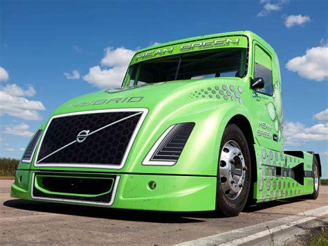 volvo big 2010 volvo vnl mean green hybrid truck semi tractor rig