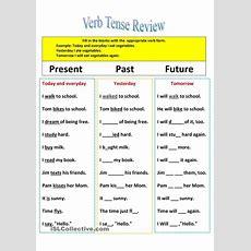 Revision Of Verb Tenses Present, Past, And Future  Classroom Materials  English Grammar
