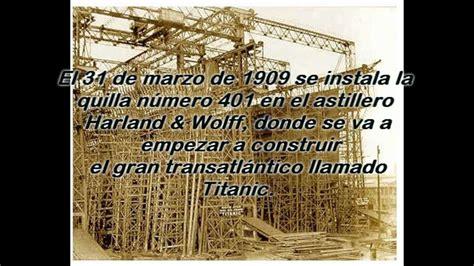 la historia titanic resumen construcion y