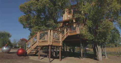 luxury animal planet treehouse breaks california countys