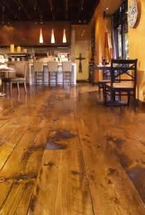 wide plank white pine floor living room