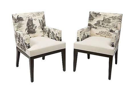 Modern Toile Armchairs,