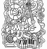 Coloring Pages Instrument Instruments Musical Printable Getcolorings sketch template