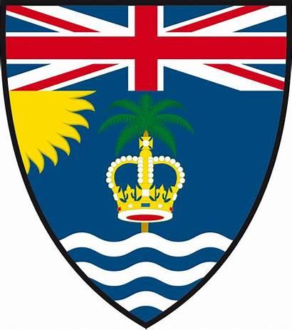 Arms Coat British Shield Ocean Indian Territory