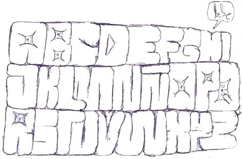 imagenes abecedario en graffiti