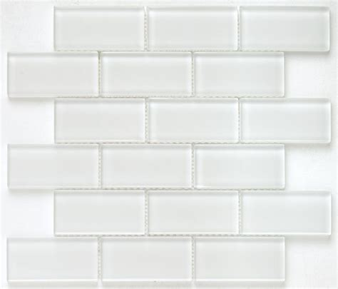 subway glass tile simplicity white 2x4 ceramics it is