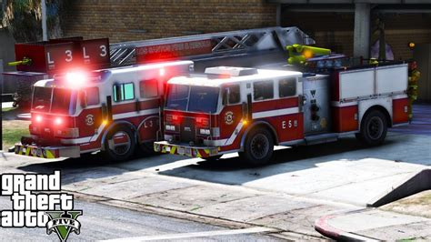gta  firefighter mod   los santos fire rescue