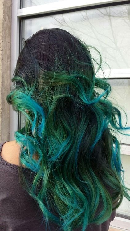 Green Ombre Hair Hair Makeup And Nails Pinterest