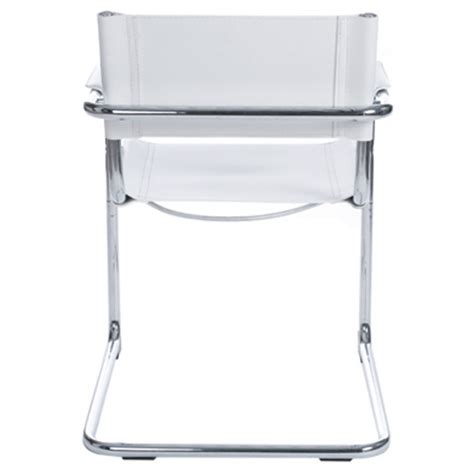 chaise simili cuir blanc design office chair tahiti white