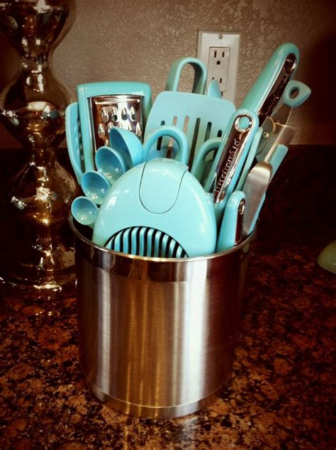 turquoise kitchen utensils kitchen aid aqua utensils i want all of these in