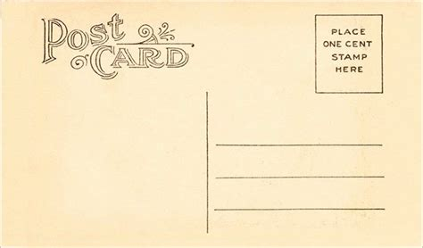 printable postcard templates    images