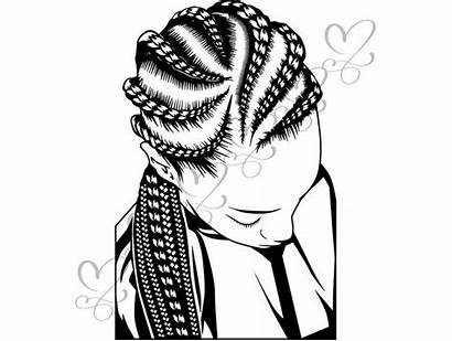 Braids Salon Hair Braid Drawing Woman Dreads