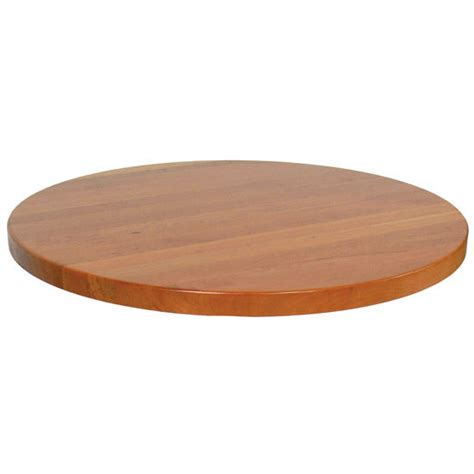 Round Cherry Butcher Block Table Top With Full Length
