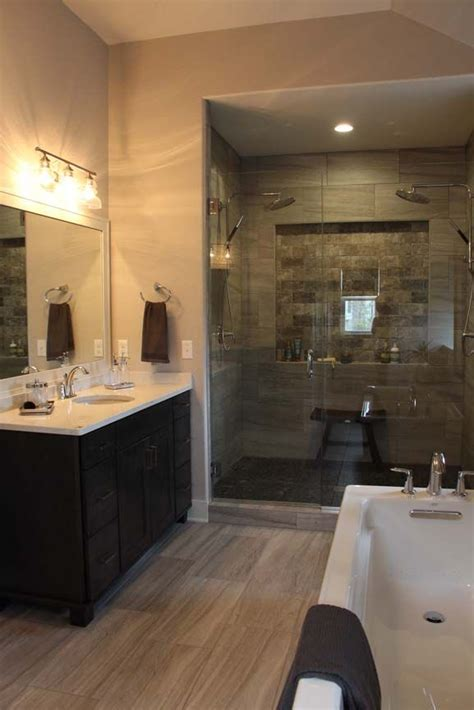Spa Like Master Bathrooms by The Spa Like Master Bath Includes A Custom Tile Glass