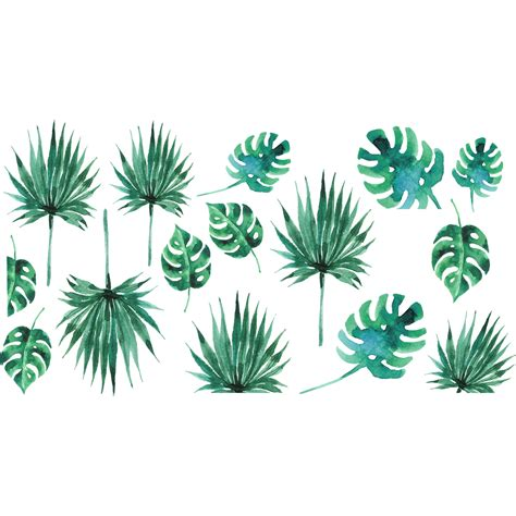 carrelages cuisine sticker feuilles tropicales stickers nature feuilles