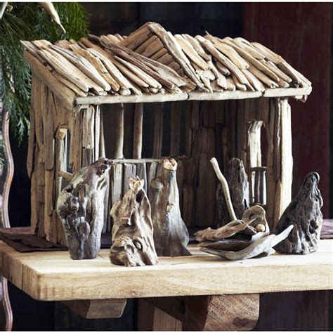Driftwood Holy Family Nativity Set Christmas Holiday Decor