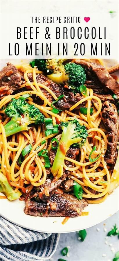 Beef Broccoli Garlic Lo Mein Minute Recipes