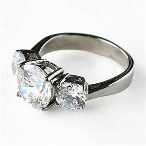 cz ring cz wedding ring cz engagement ring wedding ring With wedding bands for 3 stone rings