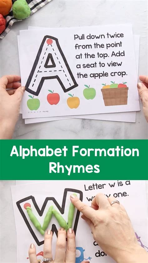 uppercase alphabet formation rhymes  images