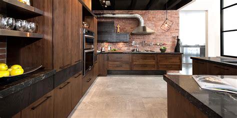 quartz cuisine loft cuisine bois noyer frêne quartz