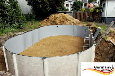Schwimmbeckenaufbauanleitung Swimmingpoolmontage
