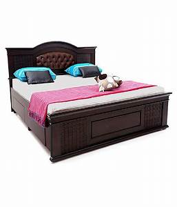 Solid Wood Double Bed With Storage Buy Solid Wood Double