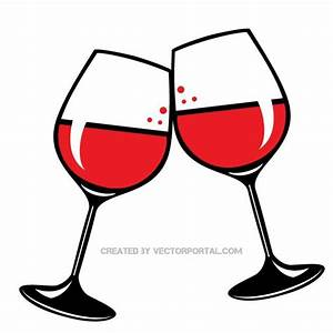 Toast clipart wine glass - Pencil and in color toast ...