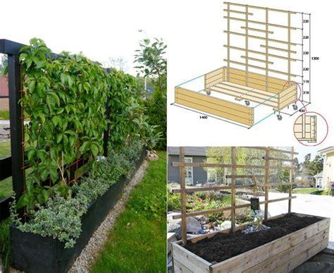 mobiler sichtschutz pflanzen spalier selber bauen garten terrasse ideen sichtschutz garten