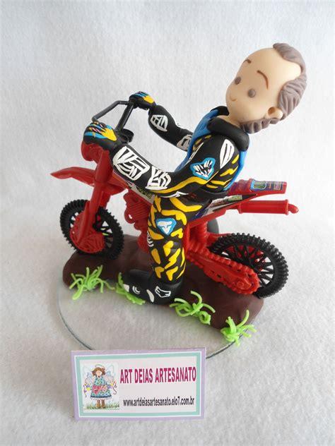 topo de bolo motocross  elo art deias artesanato