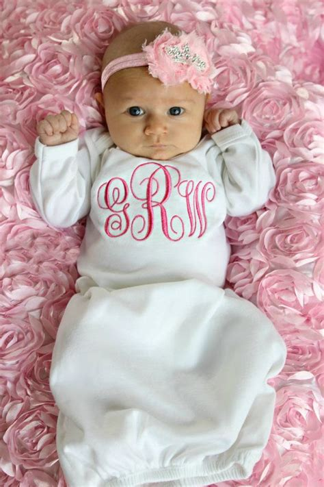 baby gown newborn gift girl personalized baby girl gift newborn baby girl  home outfit