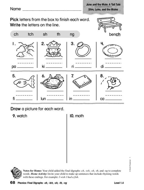 th digraph worksheets for grade homeshealth info