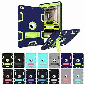 For New Ipad 9 7 Inch 2018    2017 5th Gen Shockproof Heavy Duty Rubber Hard Stand Case Cover