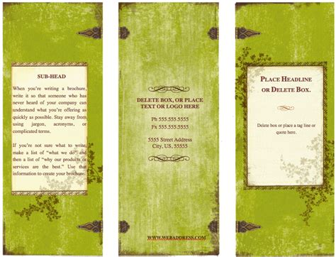 Pages Brochure Templates Free Costumepartyrun
